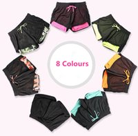 Wholesale Stretch Women Wholesale Pants - Summer Breathable Women's Shorts Ladies Top Quality Womens Yoga Gym Running Marathon Gym Stretch Mesh Sports Pants Shorts Pants 8 Colours