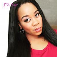 malezya saç perukları işlenmemiş toptan satış-100% İşlenmemiş Perulu İnsan Saç Tam Dantel Peruk Dantel Ön Peruk Düz Brezilyalı Malezya Virgin İnsan Saç Peruk Ile Bebek saç