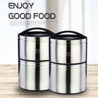 Wholesale Double Layer Pot - Thermal Insulated food carrier insulation pot double layer non - magnetic insulation lunch box vacuum cooker high quality stainless steel
