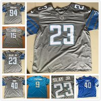 Wholesale 2017 New Style Darius Slay Jr Jersey Cheap Gray Blue White Sanders Matthew Stafford Zach Zenner Jarrad Davis Ziggy Ansah Golden Tate III