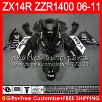 Wholesale Kawasaki West Fairings - Body For KAWASAKI NINJA ZZR1400 14 R ZX14R 06 07 08 09 10 11 63HM24 ZZR 1400 ZX-14R ZX 14R 2006 2007 2008 2009 2010 2011 Fairing Black west