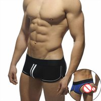 Wholesale Male Jockstrap Underwear - Male panties men's cotton jockstrap boxers trunks cotton pants low-waist sexy panties boys underwear boxer short trunk sexy low wait