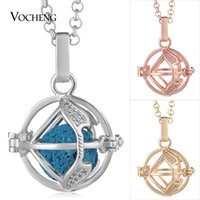 Wholesale Pregnant Halloween - Pregnant Necklace Jewelry 3 Colors Cubic Zircon Angel Ball Necklace with Stainless Steel Chain VA-370