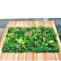 ingrosso miniature garden gnome-Erba artificiale di plastica prato 40 * 60cm Fairy Garden Miniature Gnome Moss Terrarium Decor Resina Artigianato Bonsai Home Decor Milano Prato misto