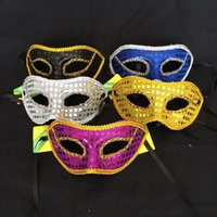 Mens Womens Bright Cloth Party Máscaras com laço nclosureEdge Masquerade bola Venetian Sparkle Mask Mardi Gras Costume