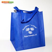 Wholesale Reusable Bags Logo - Wholesale- Cheap Wholesale Superior Quality Free Custom Eco Bags Reusable Shopping Bags With Company Logo For shopping