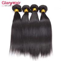 Wholesale hair weft indian mix length resale online - Price Indian Virgin Hair Weft Mixed Length inch Raw Indian Straight Human Hair Bundles a Grade Unprocessed Hair Weave Bundle