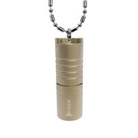 Wholesale Waterproof Led Necklace - mini Flashlight outdoor necklace flashlight CREE XP-G2 LED Wuben G341 G342 lamp with rechargeable Li-ion battery Waterproof IPX8 41MM Length