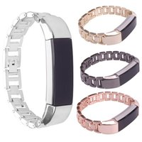 Wholesale Replacement Chains - Replacement Metal Stainless steel chain steel Wrist Band Holder Bracelet For Fitbit Alta Smart Heart Rate Fitness Wrist band Newest FC0085