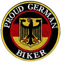 Wholesale Cheapest Wholesale Patches - Cheapest PROUD GERMAN BIKER EMBROIDERED PATCH IRON SWE ON T-shit OR CAP JACKET BAG HAT ECT HIGH QUANLITY
