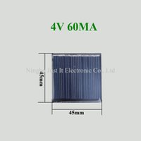 Wholesale Solar Cell Epoxy - 200pcs lot 4V 60mA Epoxy Resin Mini Solar Cell 45*45mm