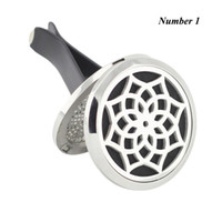 Wholesale 316 Stainless Steel Magnetic Lockets - Wholesale Silver 38mm Magnetic car Diffuser 316 Stainless Steel Car Aromatherapy Locket Essential Oil Diffuser Lockets