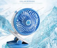 Wholesale Ceiling Clips - 2017 new USB Mini Portable Rechargeable Fan Clip Fan With Lithium Battery 360 Degree Rotate New Design USB Cooling Fan MYY