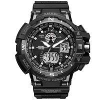 Wholesale Big Clocks - New Brand Smael Watch Dual Time Big Dial Men Sports Watches S Shock Waterproof Digital Clock Men's Wristwatch relogio masculine drop shippin