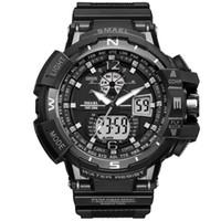 ingrosso grandi orologi digitali-Nuovo marchio Smael orologio Dual Time Big Dial uomini orologi sportivi S Shock orologio da polso digitale impermeabile orologio da polso relogio maschile goccia shippin