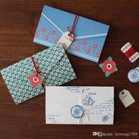 vintage universal venda por atacado-4 pçs / set Envelope Do Vintage convite Cartão de mensagem de Saudação de natal de aniversário de casamento festa de Ano Novo cartão de presente feriado Universal