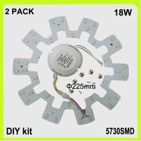Wholesale Down Lights Kit - DIY install 2 PACK sun flower shape 18W LED circular ceiling light PCB led panel round down light kit techo LED 120v 220V 230V 240V