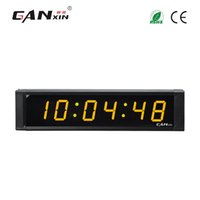 """Wholesale Led Digit Clock - [Ganxin] 1"""" Display 6 Digit Yellow tube Portable Led Digital Wall Clock with Remote Control Programmable Designed Energy Conservation"""