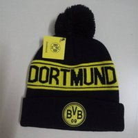 Wholesale Souvenir Soccer Team - 9 teams can choose embroidery football Fans souvenirs winter hat for women men soccer hat knitted winter Caps brand Beanie