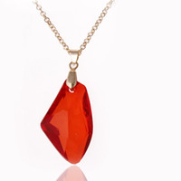 Wholesale Philosopher Stone - Harry and the Sorcerer's Stone Red Philosophers Stone Pendant Necklaces Necklace for Women Men fashion Jewelry 160218