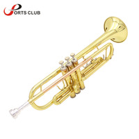 Wholesale trumpet cleaning - Wholesale- High Quality Trumpet Bb B Flat Brass Trumpet Phosphor Copper with Mouthpiece Cleaning Brush Glove Strap
