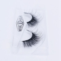 Wholesale Siberian Mink Eyelash Extension - Selling 1pair lot 100% Real Siberian 3D Mink Full Strip False Eyelash Long Individual Eyelashes Mink Lashes Extension 3D-39