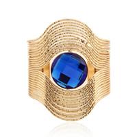 Wholesale Multi Gem Bracelet - 2017 brand Open Bracelet Maxi Stripe Gem Multi Layer Vintage geometry Ethnic Boho big gem Statment Bracelets Bangle Women Jewelry wholesale