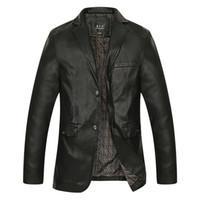 Wholesale Genuine Leather Jackets For Men - Wholesale- L-8XL Factory Men's Genuine Leather Jacket For Men Real Matte Goat Skin Sheepskin Fashion Brand Black Male Coat Plus Size