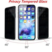 Compra Scudi C-Privacy Vetro temperato per iPhone X per iphone 8 plus 7 PLUS Privacy Screen Protector Shield Anti-Spy Anti-graffio con carta Packag C