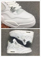 Wholesale Cheaper Basketball Shoes - 2017 NEW Air retro 4S retro white metallic silver online With High Quality Cheaper discount man basketball shoes eur 40-47