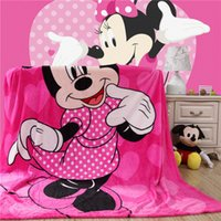 Wholesale Minnie pattern cartoon throw Blanket Flannel Fleece fabric soft sofa single bedsheets Multifunctional Blankets cm
