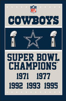 Wholesale Super Champions - Cowboys 3ftx5ft flag with 2 metal Grommets Banner 5 time SUPER BOWL CHAMPIONS Free Shipping Good Quality Nice 141142