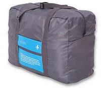 naylon çanta taşımak toptan satış-Kolay Taşıma Katlanabilir Su Geçirmez Büyük Naylon Seyahat Kamp Bisiklet Bagaj Bavul Organizatör Depolama Konteyner Tote Çanta Katlanır