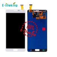 nota lcd siyah toptan satış-Kaliteli Samsung Galaxy Not Için 4 LCD N9100 lcd N910F SM-N910 N910X Ekran Dokunmatik Digitizer Meclisi ile Beyaz ve siyah