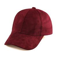 chapeaux en gros en daim achat en gros de-En gros-Mode en daim Snapback Casquette de baseball New Gorras En plein air Casquette Casual Unisexe Hip Hop Plat Réglable Chapeau pour Hommes Femmes KH866655