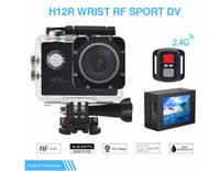 Wholesale Rf Roller - RF 2.4 Remote Control 4K 30FPS Sport DV H12R 30M Waterproof Action Camera WIFI Control 2.0'' Display Sport Camera 6-color fine retail packag