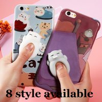 telefon fälle für iphone bär großhandel-3D Nette Weiche TPU Squishy Schlafende Katze Panda Bär Cartoon Silikon Telefon Fall iPhone Fall für 6 6 S Plus 7 7 Plus