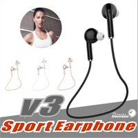 Bluetooth Headset sport drivers - V3 Bluetooth mini Earphone Sport Running With Mic Earbud Wireless headphone Car Driver Bluetooth Headset For iPhone Samsung all phone