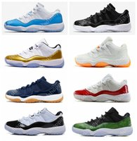 Wholesale Navy Cherry - Retro 11 Low UNC Universtiy Blue Barons Olympic Gold White Red Cherry Navy Gum Concord Basketball Shoes Sneakers Women Men 11s Lows Sports