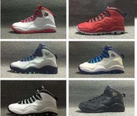 Wholesale Shipping Nyc - Wholesale Retro 10 NYC RIO basketball shoes mens sneakers Michael BASKETBALL SHOES Men size 7 13 Free shipping