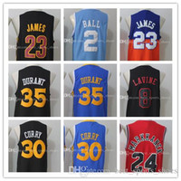 Wholesale 2017 New Lonzo Ball Jersey Men James Stephen Curry Kevin Durant jersey Lauri Markkanen Zach LaVine Basketball stitched jerseys