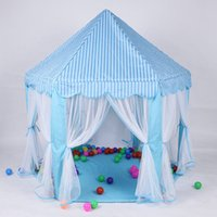 Wholesale New Fashion Baby Toy Play Game House Huge Child Beach Tent Kids Princess Prince Castle Tents Indoor Outdoor Toys Tents Best Christmas Gifts