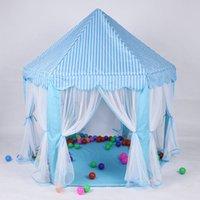 ev prensesi kale toptan satış-Yeni Moda Bebek Oyuncak Oyun Evi Huge Çocuk Plaj Çadır Çocuk Prenses Prens Kale Çadırlar Kapalı Açık Oyuncak Çadırlar İyi Yılbaşı Hediyeleri oyna