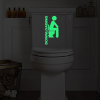 Wholesale Decoration Adhesive - Creative toilet stickers characters cartoon fluorescent paste toilet decoration stickers wall stickers for toilet by DZY