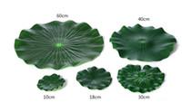 Wholesale garden pond decorations resale online - Plastic Artificial Lotus Flower Leaf For pool Home Pond Fish Tank Lotus Leaves Leaf Decor Party garden Decorations CM