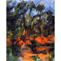 ingrosso dipinti pitture a olio forestale-Dipinti ad olio regalo di Paul Cezanne forest II Dipinto a mano di arte moderna decorazione murale Alta qualità