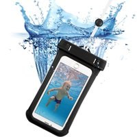 waterproof case venda por atacado-Impermeável saco seco bolsa, ESR IPX8 mergulho subaquático cinta de natação caso 6 polegada Snowproof Dirtproof Bolsa para o iphone 7 7 plus 6 s S7 S8 Quente