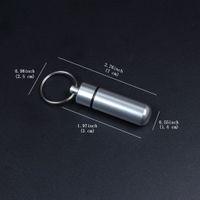 satılık alüminyum çantalar toptan satış-Metal Kutu Kutu Şişe Tutucu Anahtarlıklar Alüminyum Şişe Tutucu Konteyner Karışık Renk Ücretsiz Kargo Sıcak Satış