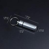 aluminium-gehäuse zum verkauf großhandel-Metallkasten-Kasten-Flaschenhalter-Schlüsselketten Aluminiumflaschen-Halter-Behälter mischte Farbe Freies Verschiffen-heißer Verkauf