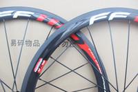 volle carbon straßenräder 38mm großhandel-38mm FFWD Drahtreifen Carbon Räder Rennrad Räder 23mm Breite 700C Vollcarbon Rennrad Laufradsatz Freies Verschiffen